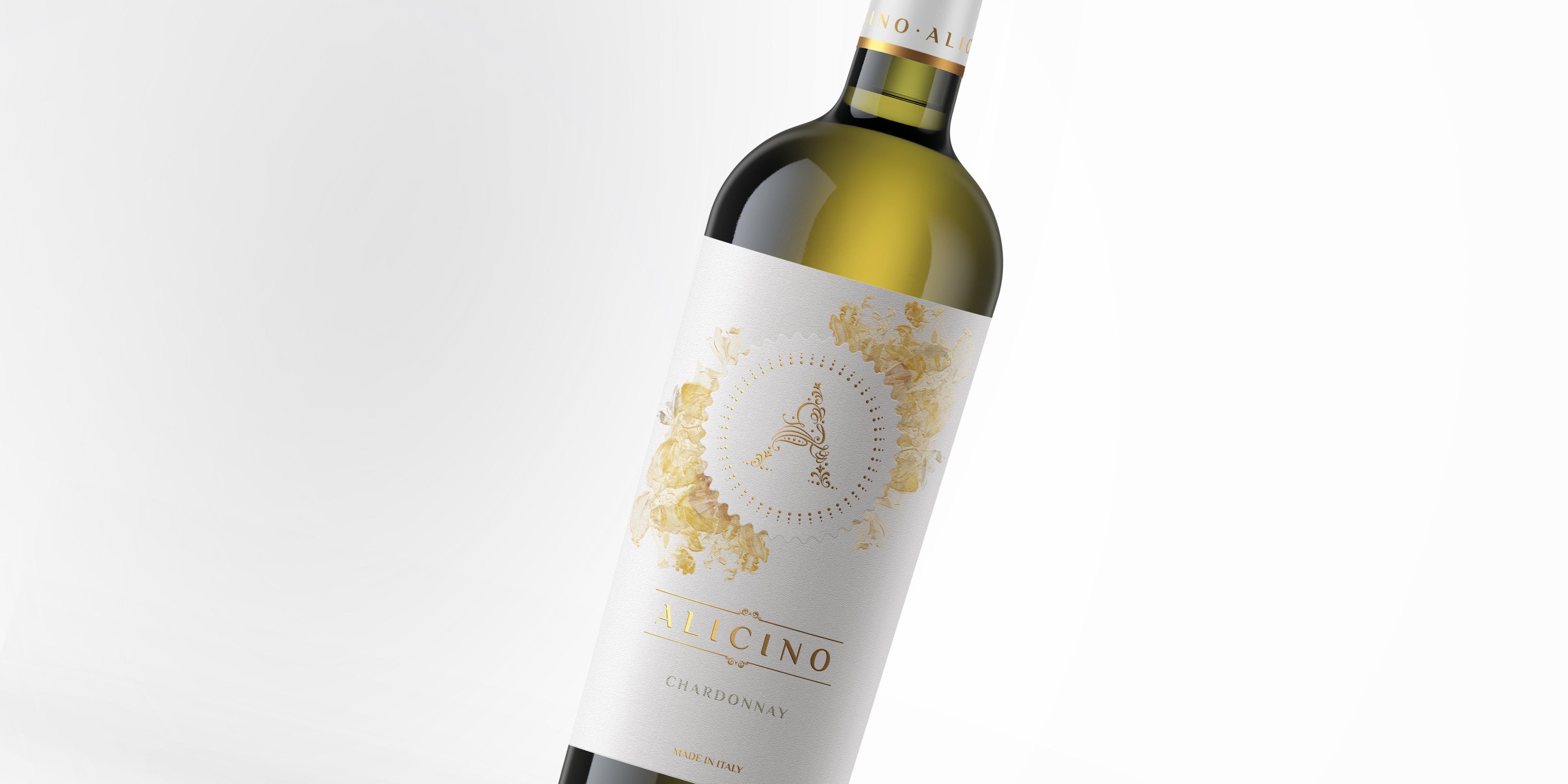 disegno etichetta vino alicino chardonnay