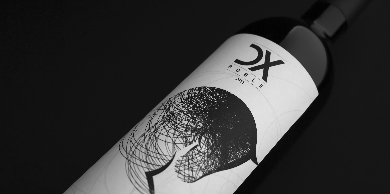 vino dx roble Diseño etiqueta Armoder