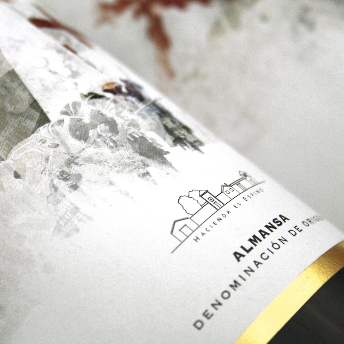 Diseño etiquetas Gama de vino 1707