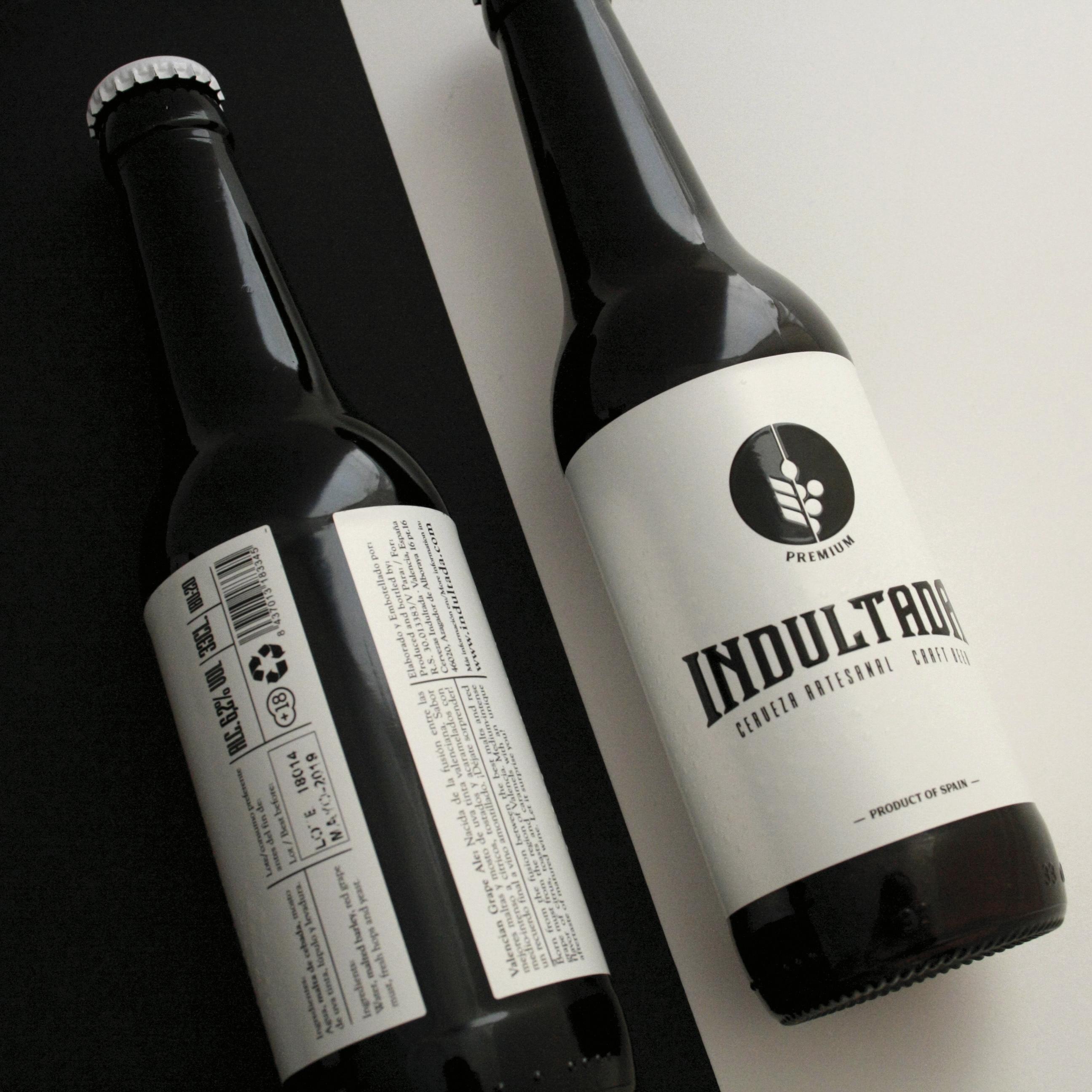 Diseño etiqueta cerveza valencia españa