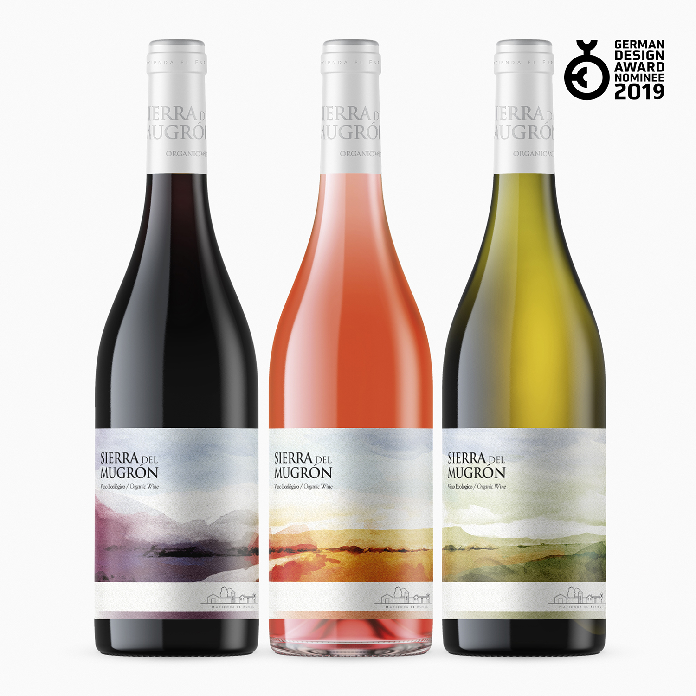 Diseño Etiqueta Vinos Sierra del Mugrón Armoder Diseño