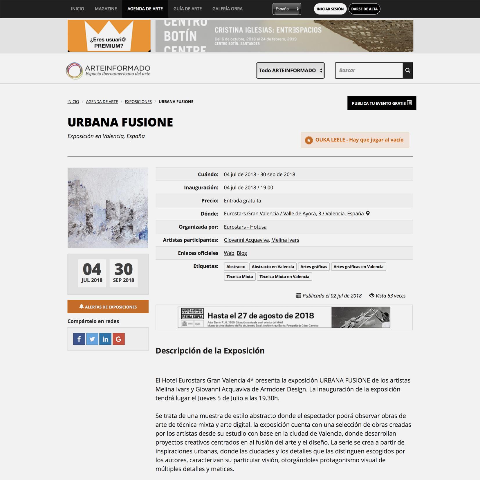 Exposición de Arte Armoder Urbana Fusione