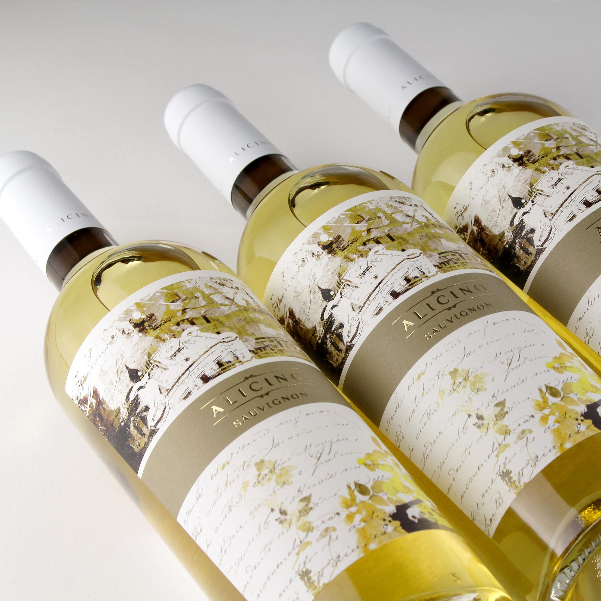 Vino Alicino Sauvignon disegno etichetta vino armoder
