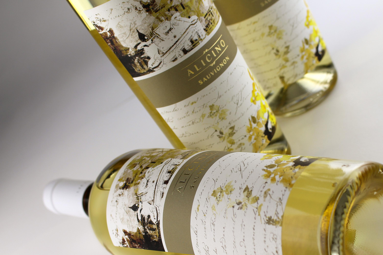 disegno etichetta vino alicino sauvignon armoder