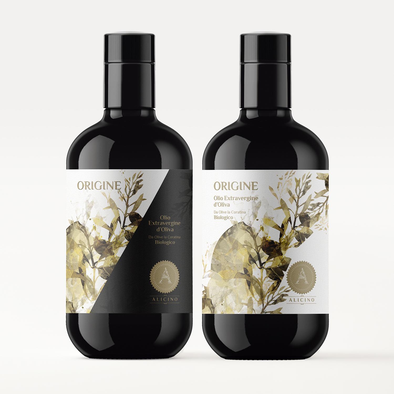 Diseño etiqueta aceite de oliva virgen extra premium armoder