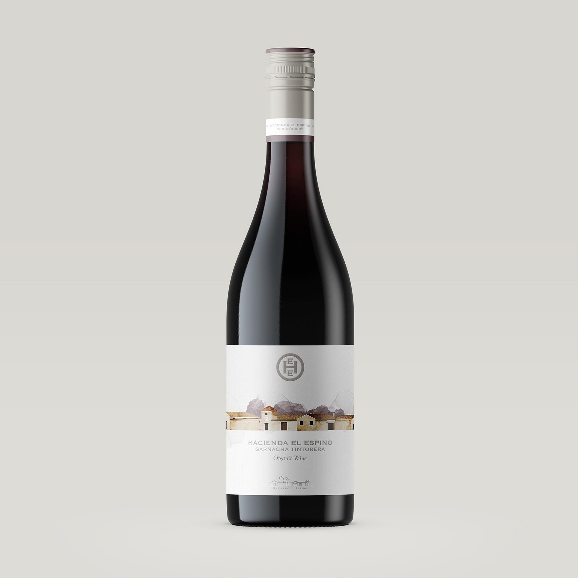 Wine label design Hacienda el espino garnacha tintorera